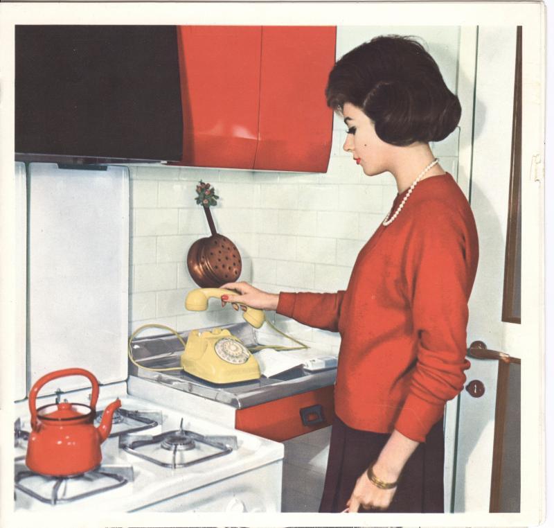 Con l'impianto a spina l'apparecchio poteva essere installato in ogni stanza, anche in cucina