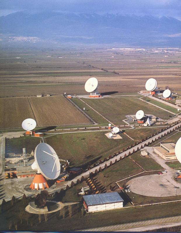 Fucino, veduta aerea del Centro Spaziale, 1963