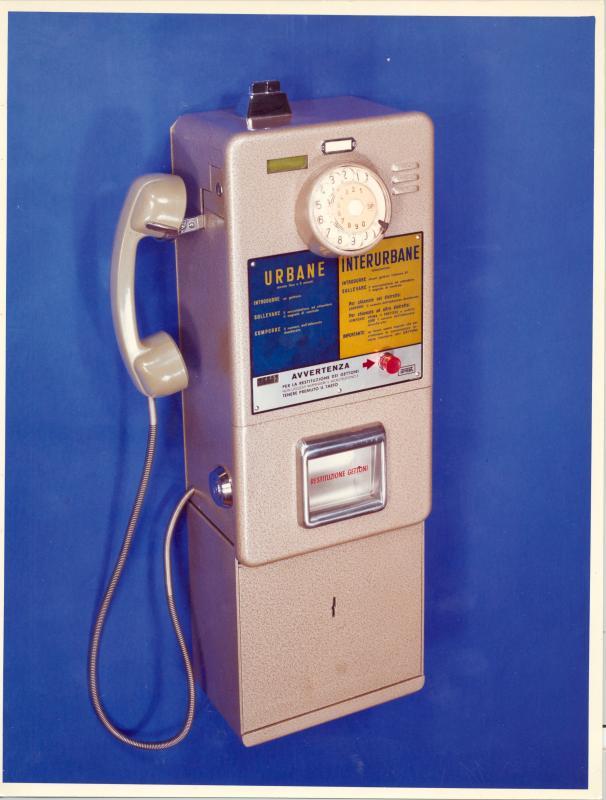 Apparecchio telefonico a gettoni, anni '70